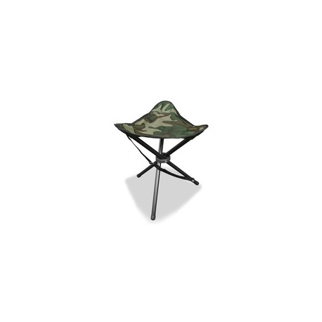 Folding stool with three legs woodland