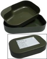 Vajilla de 2 piezas Camp-A-Box verde oliva