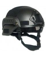 Casco de combate MICH 2000 NVG Mount and Siderail negro