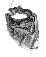 Scarf shemag white / black